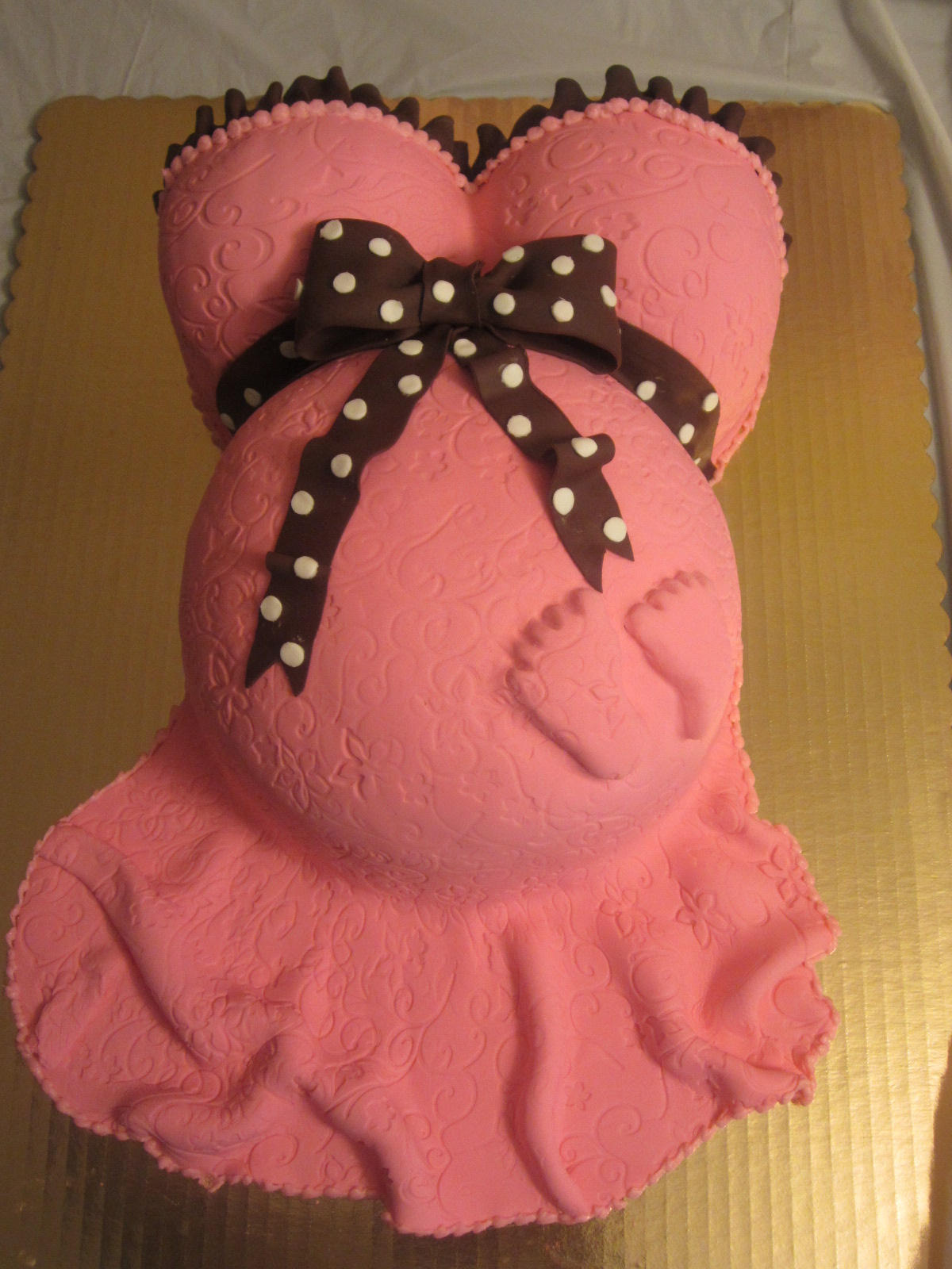 How To Make A Tummy Cake For Baby Shower