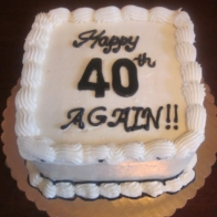 40th Again Birthday Cake